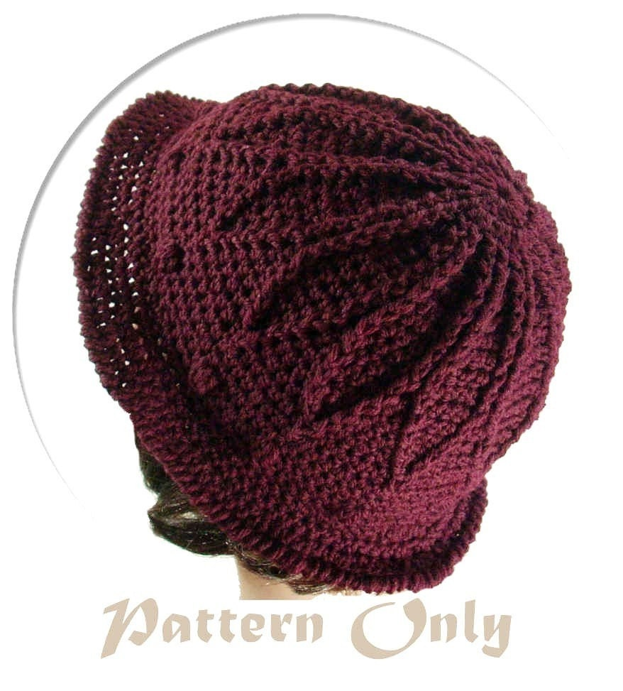 PDF Pattern Only Petal Crochet Hat no 50 by stubbornwoman on Etsy