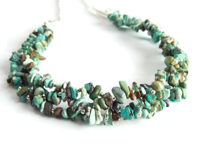 Chunky Turquoise Necklace Big Bold and Beautiful Statement Necklace Sleeping Beauty Turquoise
