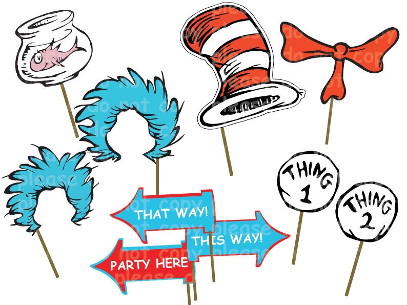 Dr Seuss Photo Props Printable | Party Invitations Ideas