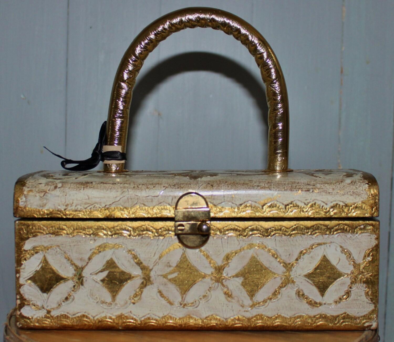 Italian Florentine Vintage Purse / Tote / Handbag