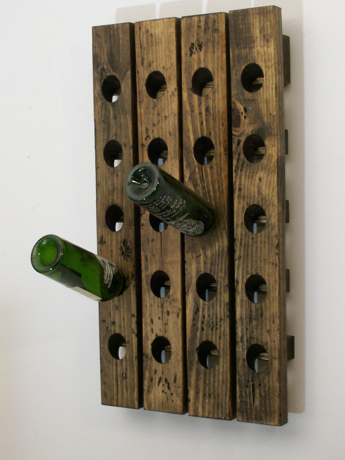 Wine riddling rack distressed wood antique style by wood4decor for Old wine rack