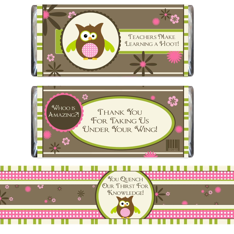 Items similar to Teacher Appreciation Candy Bar Wrapper ...