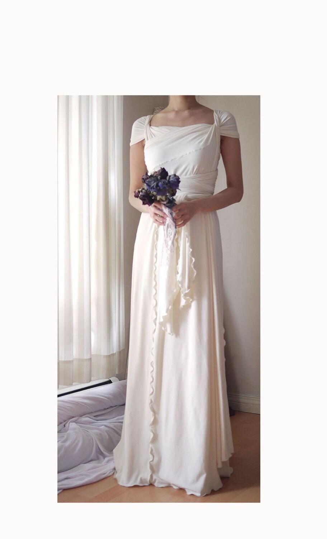 Bamboo jersey grecian wrap dress wedding dress by for Wedding dresses new jersey