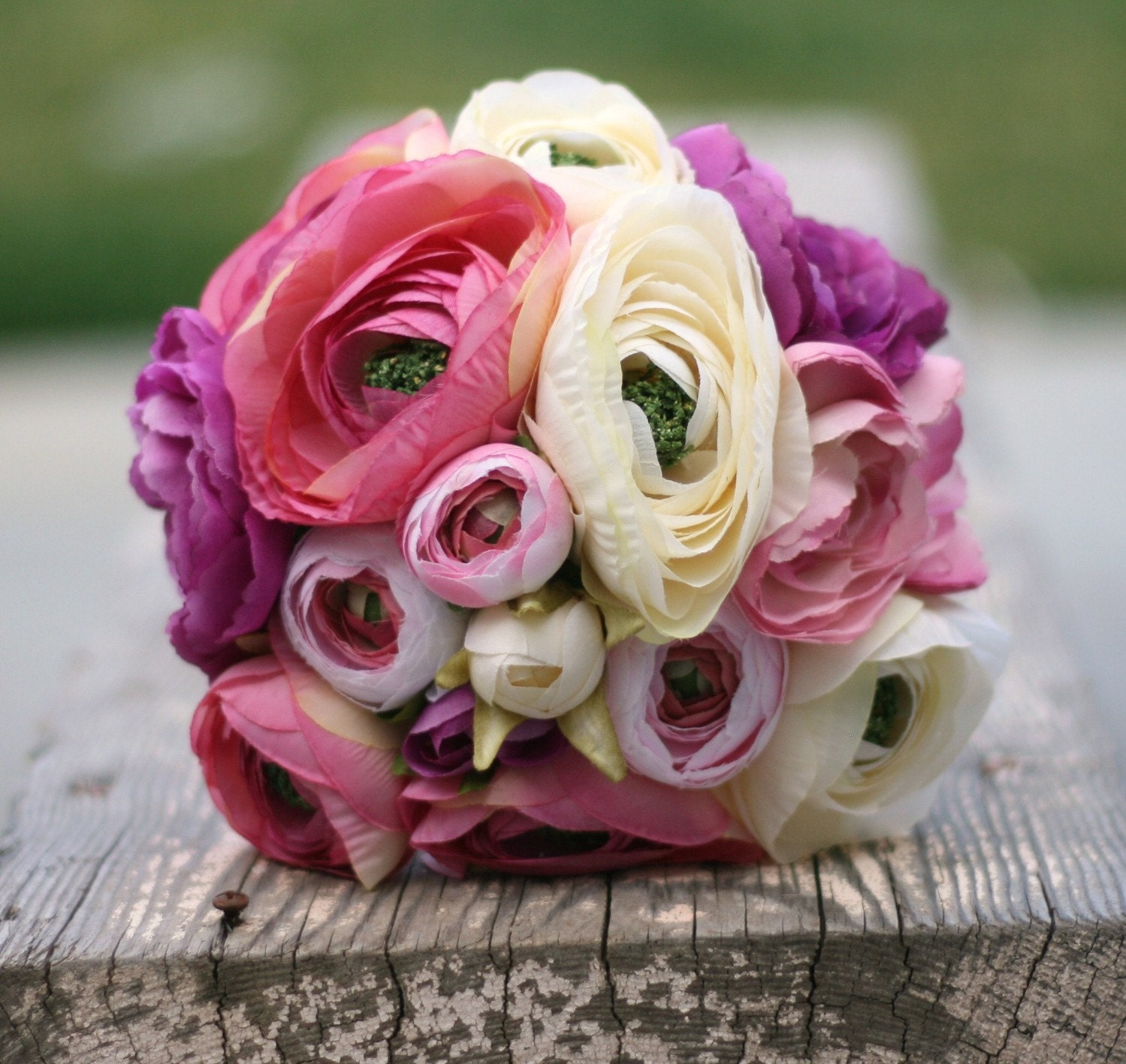 Items similar to bride bouquet cream ivory pink peony