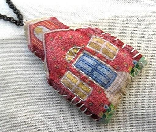 Sale. Schoolhouse.  Found Artifact Necklace.