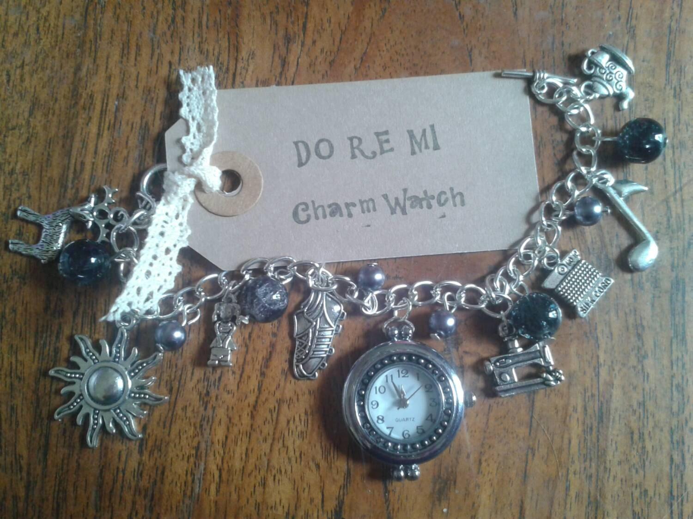 The Sound of Music Do Re Mi inspired Charm Bracelet Watch