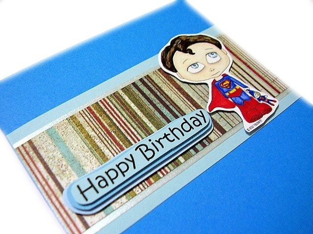 It's Kreepy Kids Superman! A superhero birthday card to bring joy to the