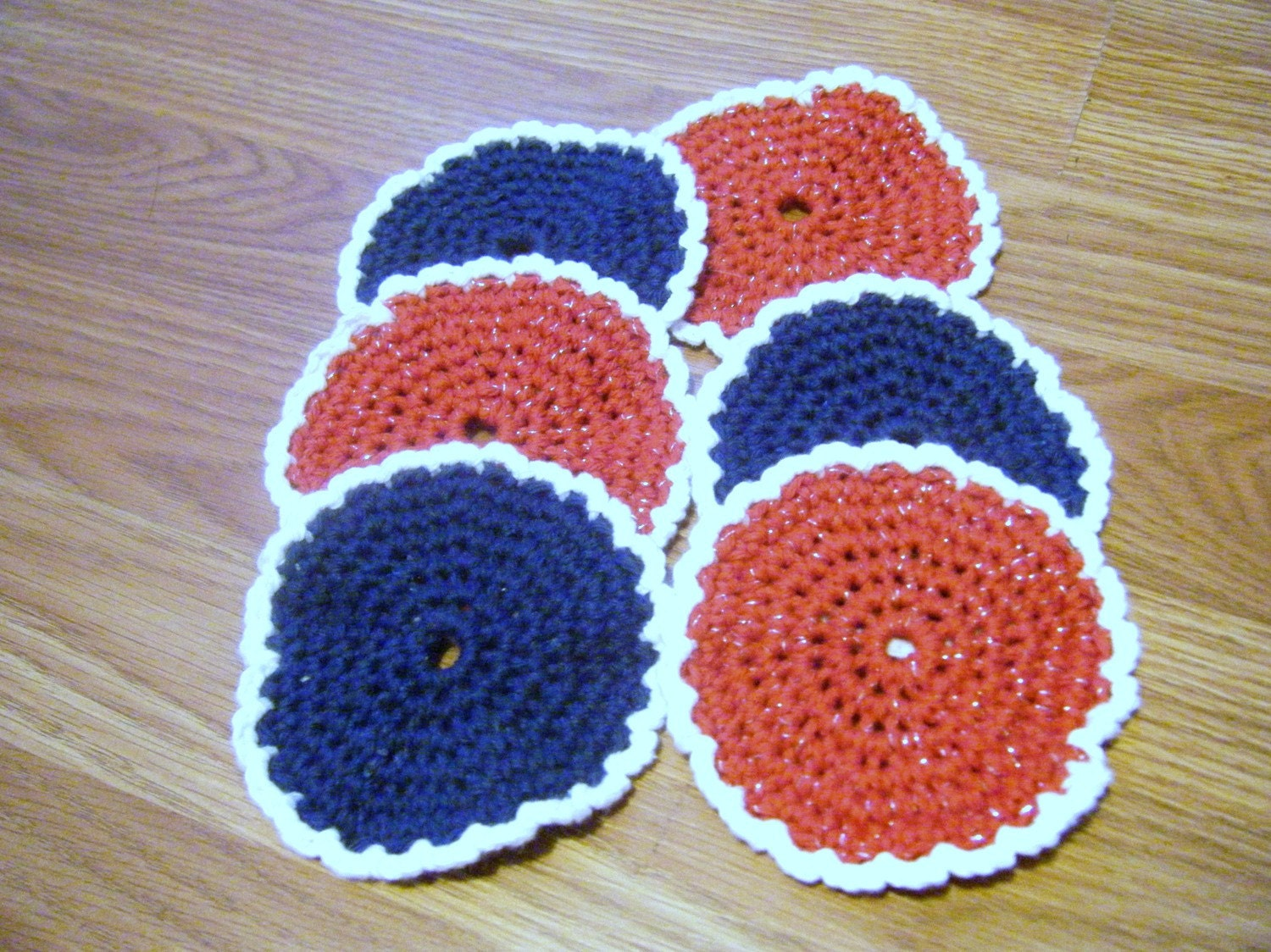 Crochet Coasters Patriotic Colors Set of 6