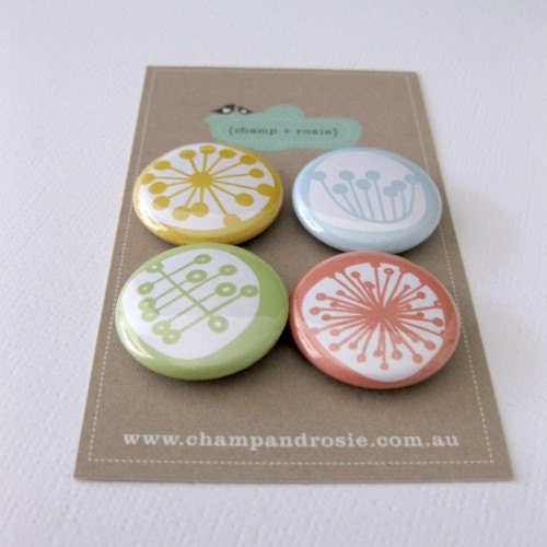 magnet set - summer retro