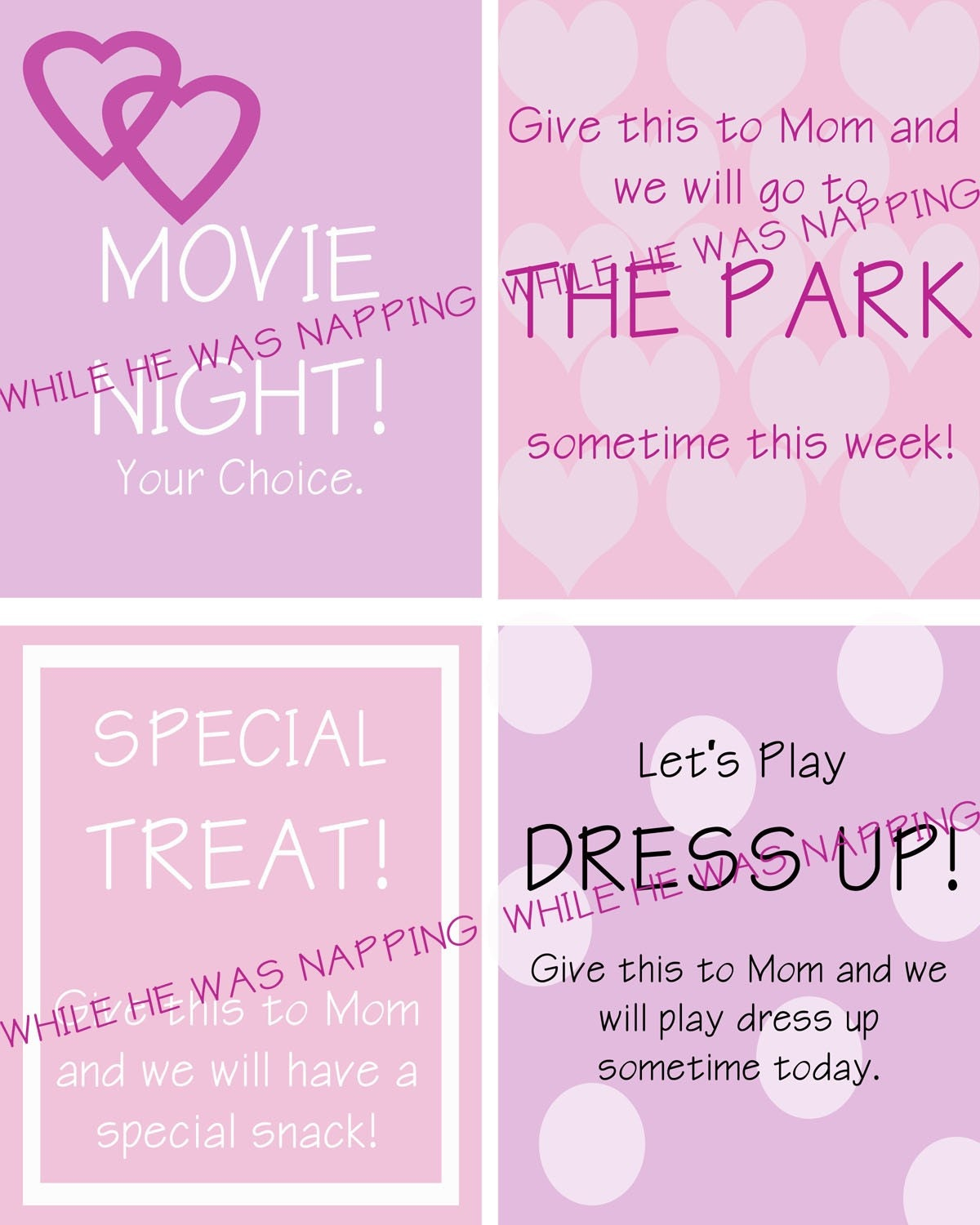 Girl Themed Activity Coupons