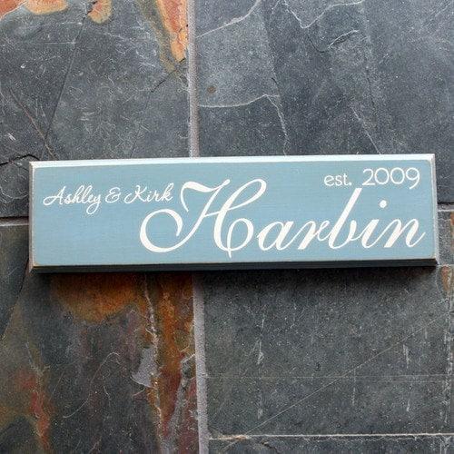 Family Name - Established Distressed Wood Sign