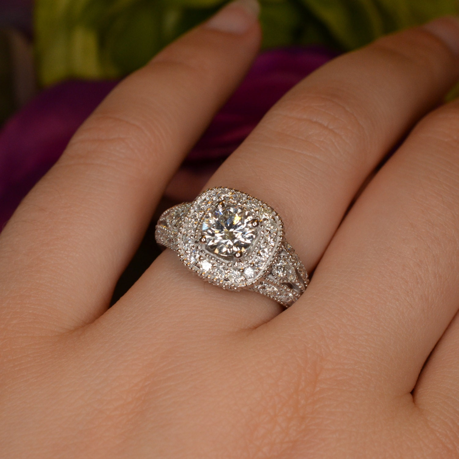 items similar to one carat engagement ring 18k