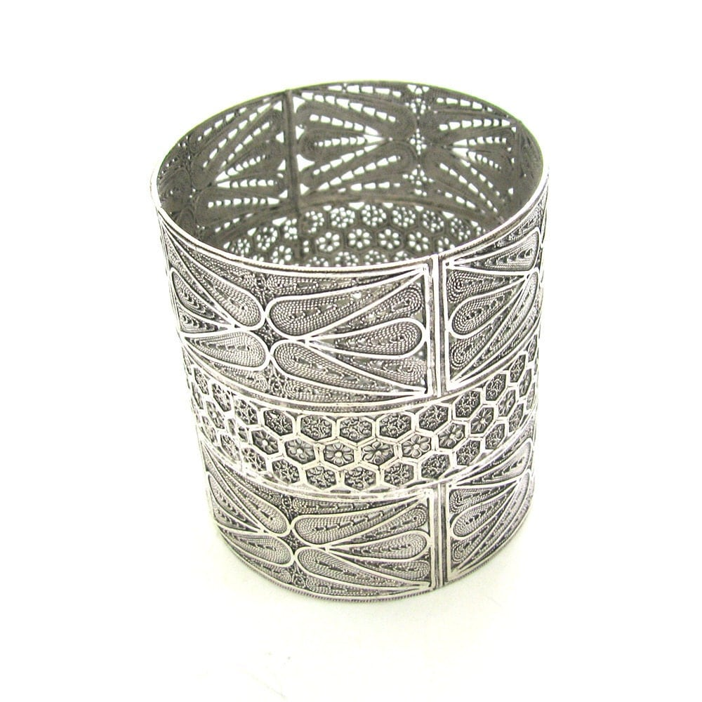 Yahrzeit Candle Holder 925 Sterling Silver Filigree by adiaart