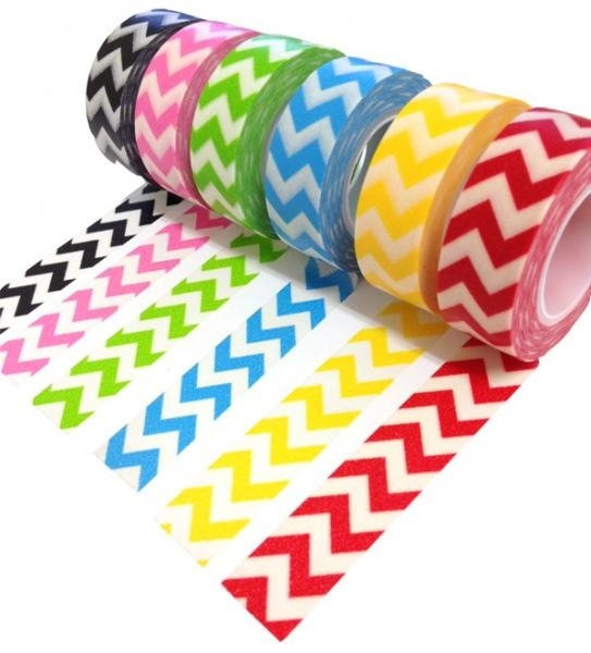 Washi Tape Trendy Tape -  Chevron Decorative Trendy Paper Packaging Tape - 10 yards -