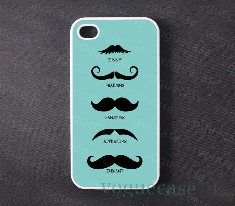 Mustache Iphone 4 Case Cover, iPhone 4s Case, iPhone 4 Hard Case, iPhone Case
