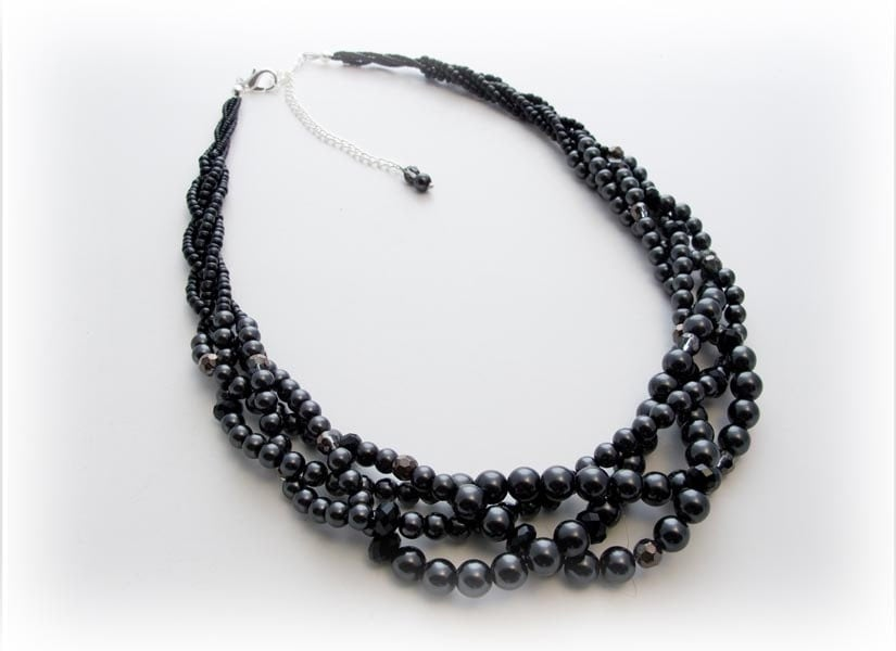 chunky black statement necklace big by kimberlysjewelryshop
