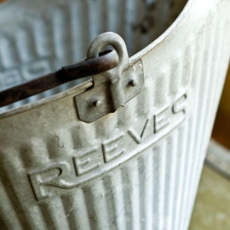 Vintage Reeves Galvanized Coal Bin