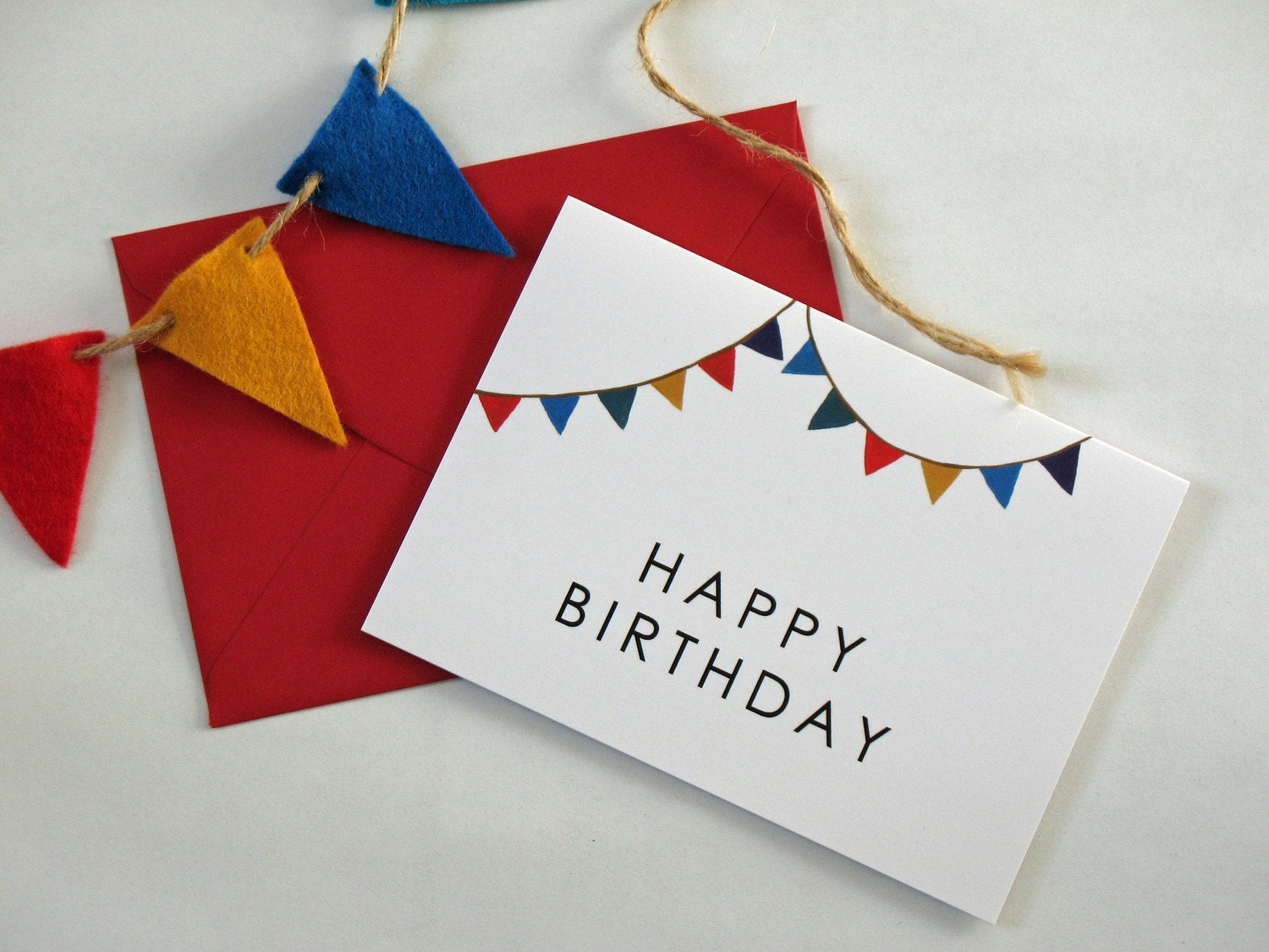 Birthday Bunting greeting card