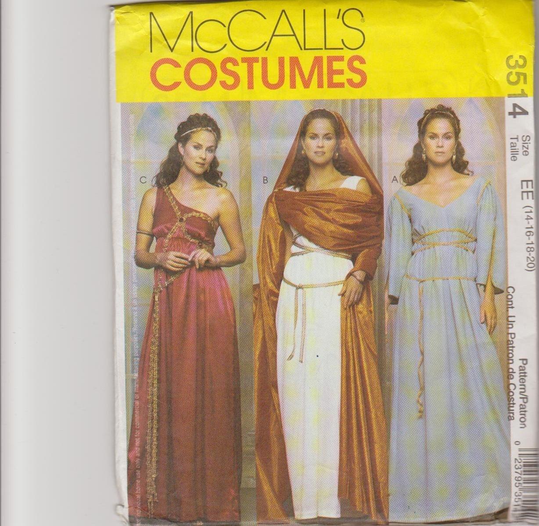 McCall's Men's Costumes Sewing Pattern 8951 Hercules Arabian