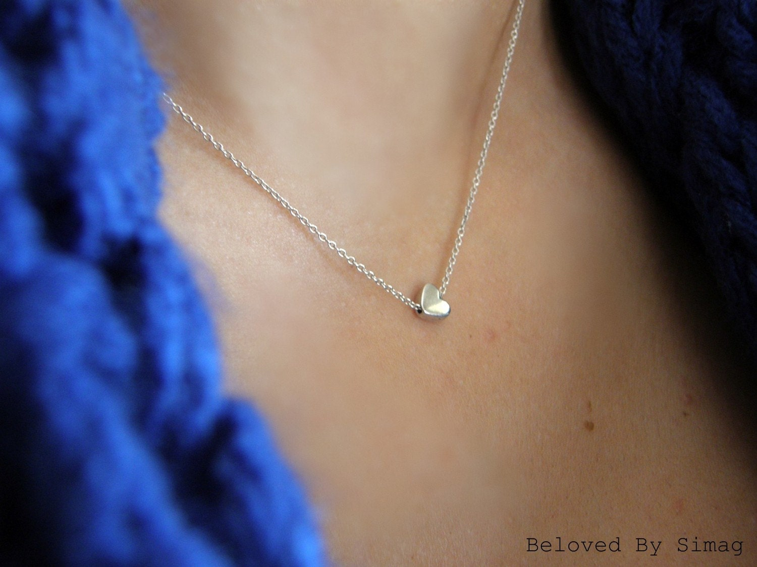 BELOVED  - tiny heart as a reminder to enjoy the little things - Beautiful  (and) Simple Gift - Handmade By Simag
