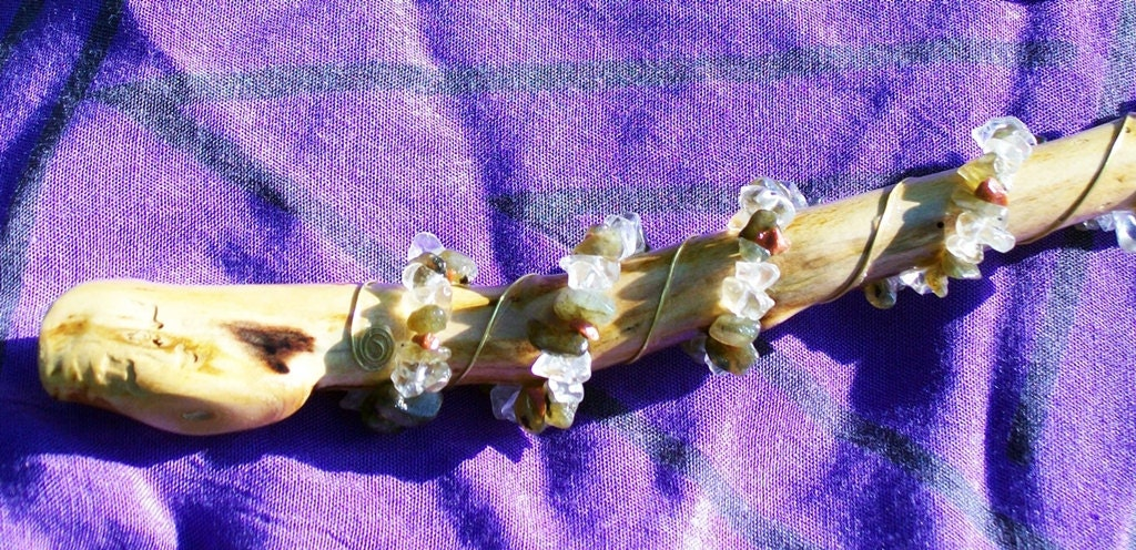Sands Of Time Gypsum Hour Glass Selenite  Divination Wand
