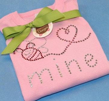 BEE MINE Team EtsyBABY Valentine Challenge rhinestone tee by Daisy Creek Designs