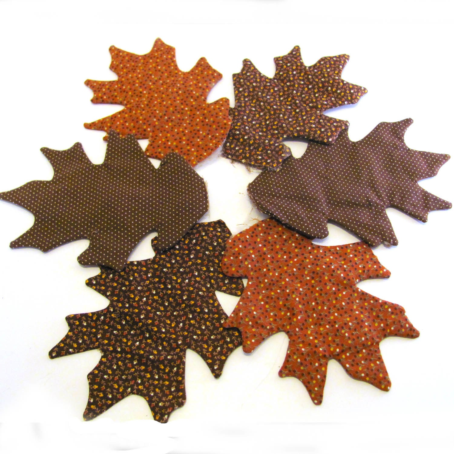 Fall fabric leaves ready for applique