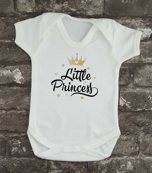 Little Princess, Princess Baby Grow, Newborn Bodysuit, Baby Girl Gift, Baby Shower Idea, Cute Baby Vest, Pregnancy Gift, New Baby Present