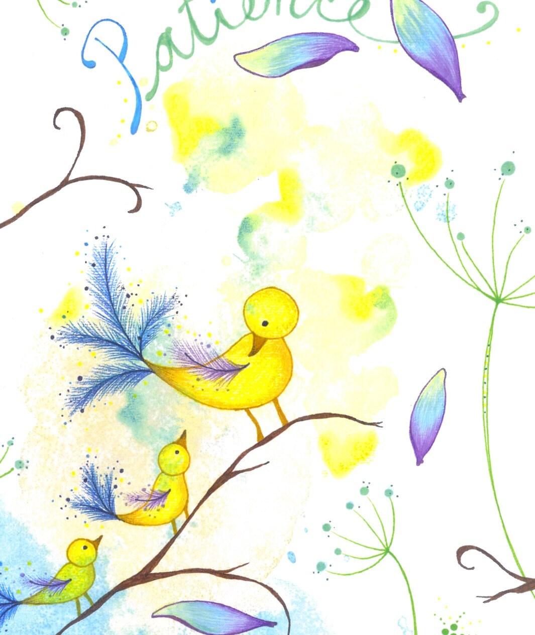 Patient Little Chicks  Art Print
