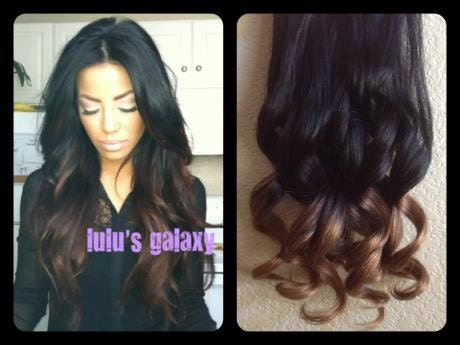 Black To Chocolate Brown Ombre Hair Extensions 115