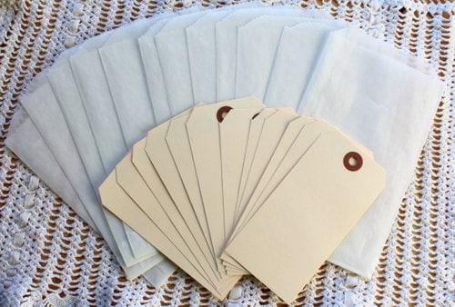 Large Glassine Bags and Manilla Tags Mini Kit
