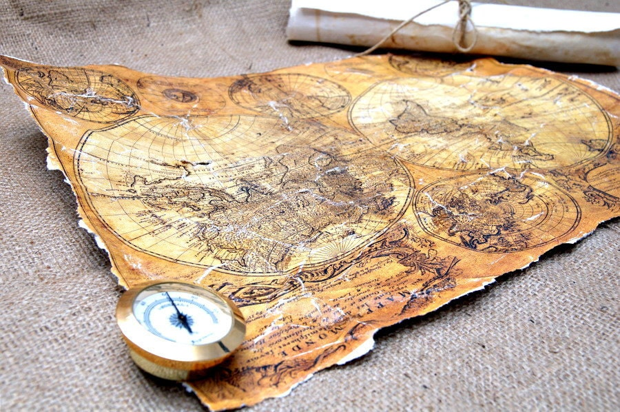 Vintage Map of the Universe - Reproduction - Epoque Map -Vintage Old Style Paper - PaperAndCalligraphy
