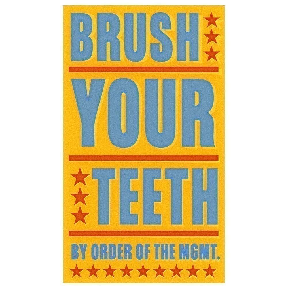 Brush Your Teeth Print 12.6 in x 21 in