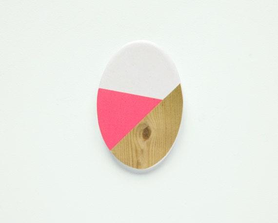 Oval N6 - Geometric Ceramic brooch - depeapa