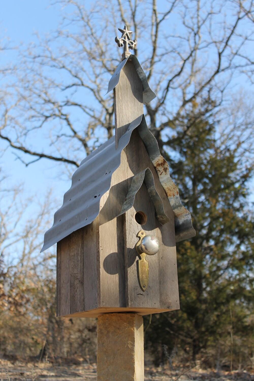 Items similar to old barn wood church bird house on etsy - Old barn wood bird houses ...