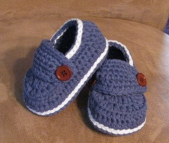 Little Button Loafers Sizes - Newborn, 3 Months, 6 Months and 9 months