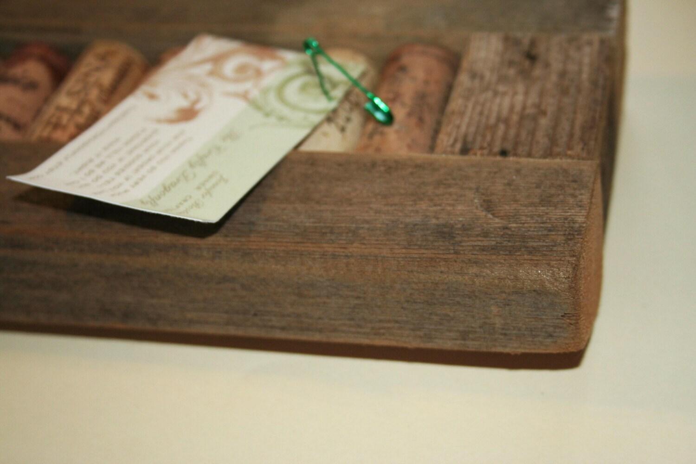 Wine Cork Board Memo Strip Rustic 5x13