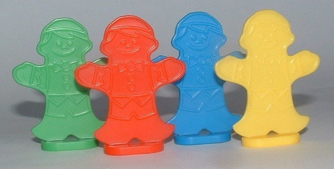 4 Candy Land Gingerbread People Pieces By Goodbyecitylife