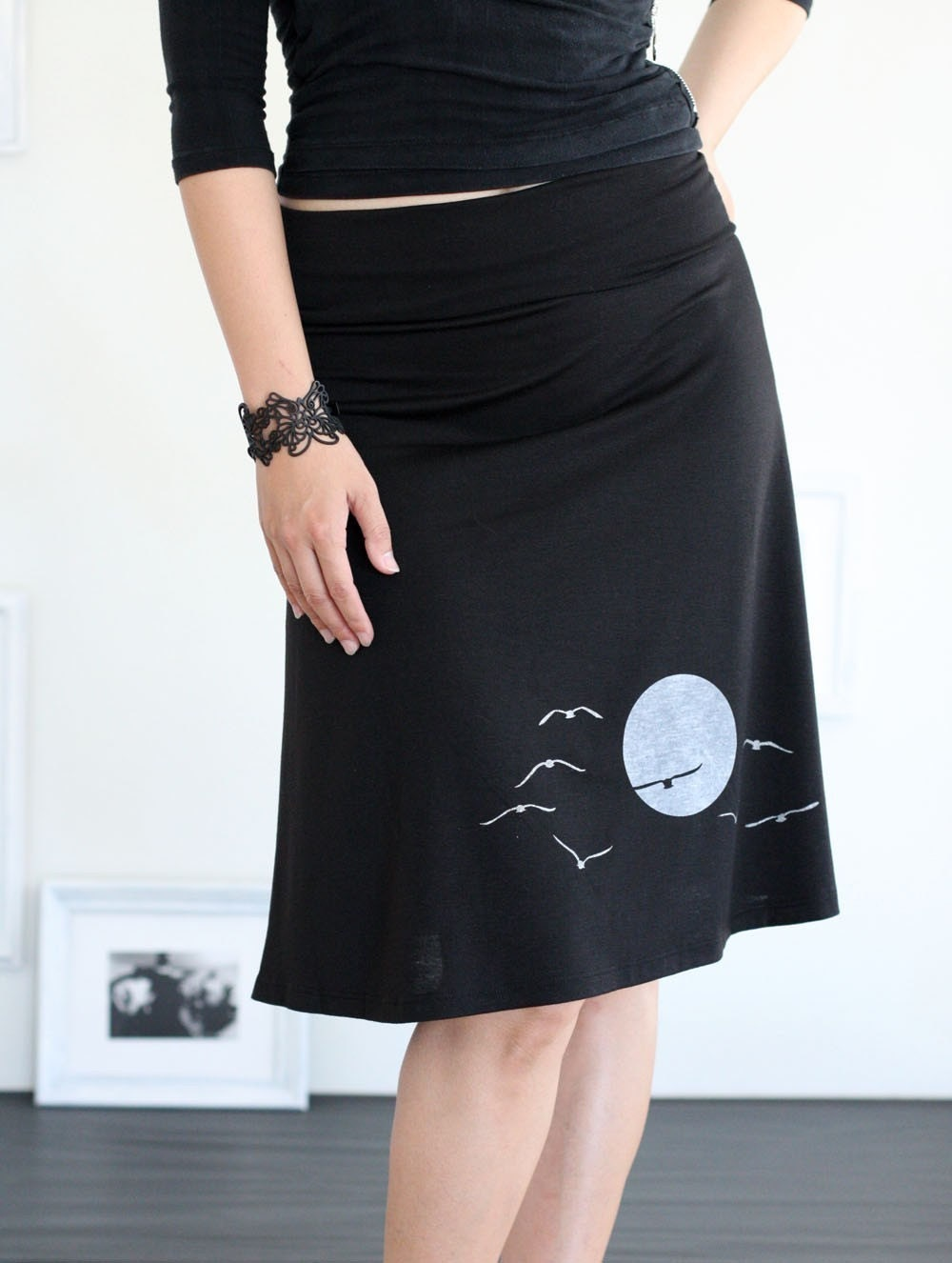 jersey skirts pull on knit skirt by zoeslollipop