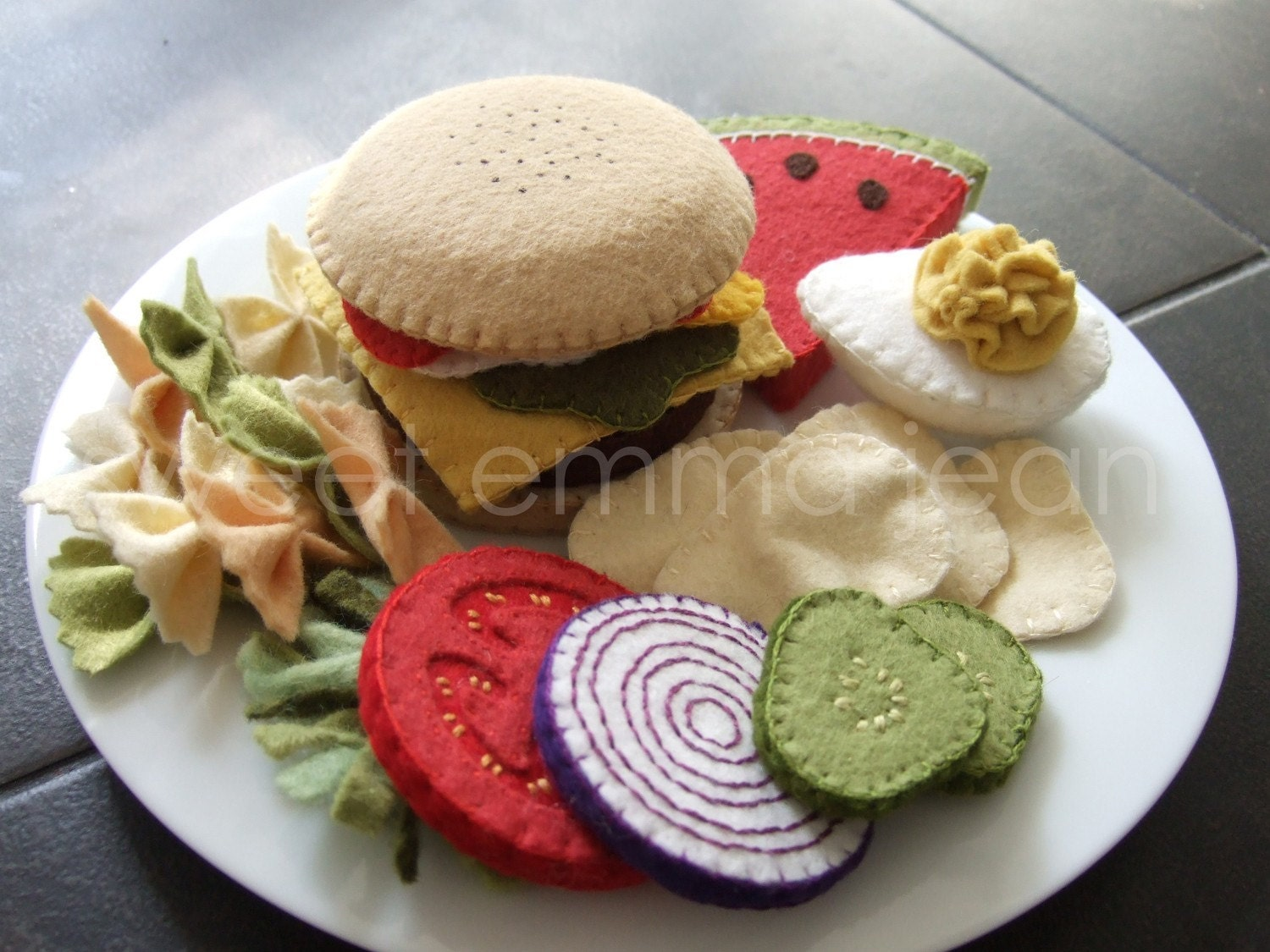Felt Food - Summer Cookout Set - Sewing Pattern PDF