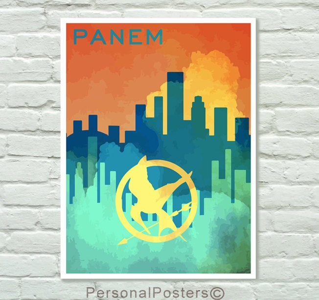 LIMITED EDITION Panem - Hunger Games Poster, Hunger Games Print 18x24