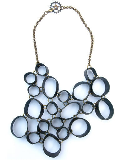 ORBITAL - Recycled Bike Inner tube Necklace - ecoFABULOUS