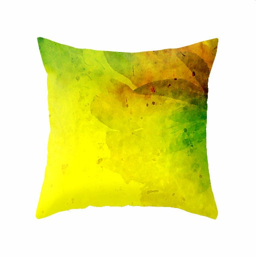 Bright Yellow Decorative Pillows : Decorative Throw Pillow Bright Sunny Yellow by BonnieBruno on Etsy
