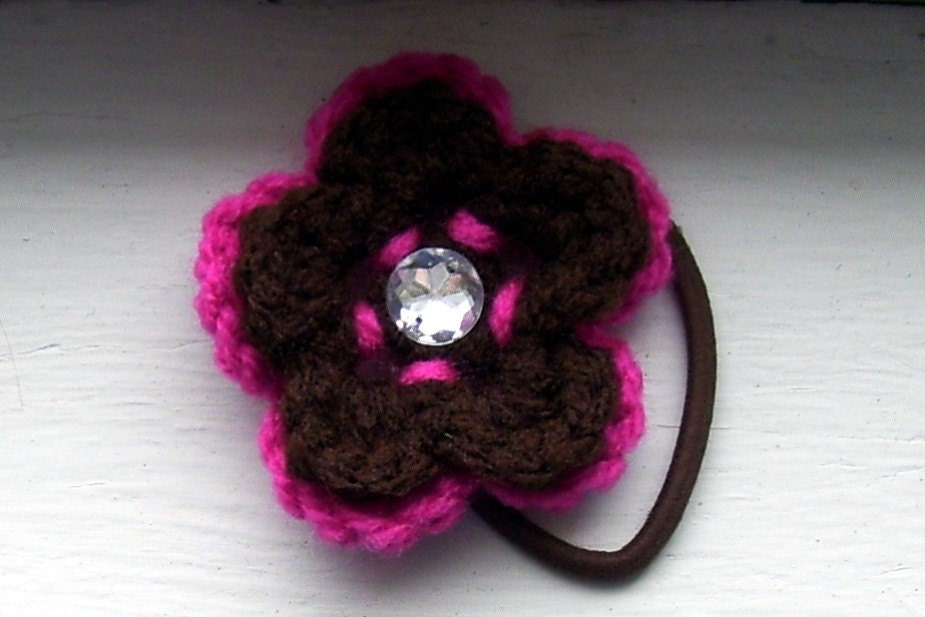 Raspberry Coffee Ponytail Holder