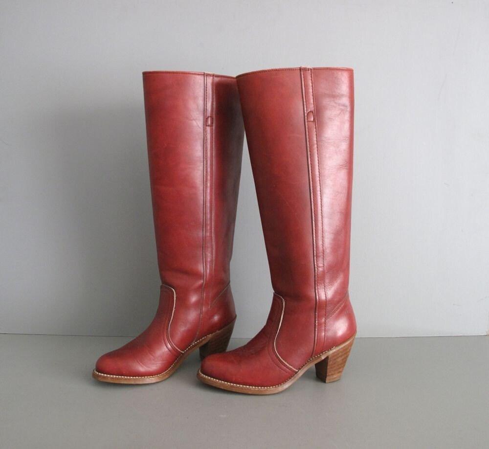 1970s vintage DEXTER OXBLOOD campus boots 5.5