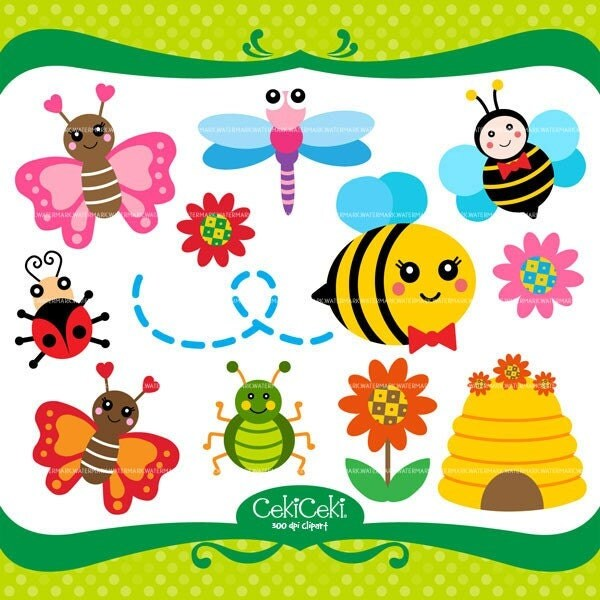 cute dragonfly clipart. CE59 Bumble Bee Butterfly clip