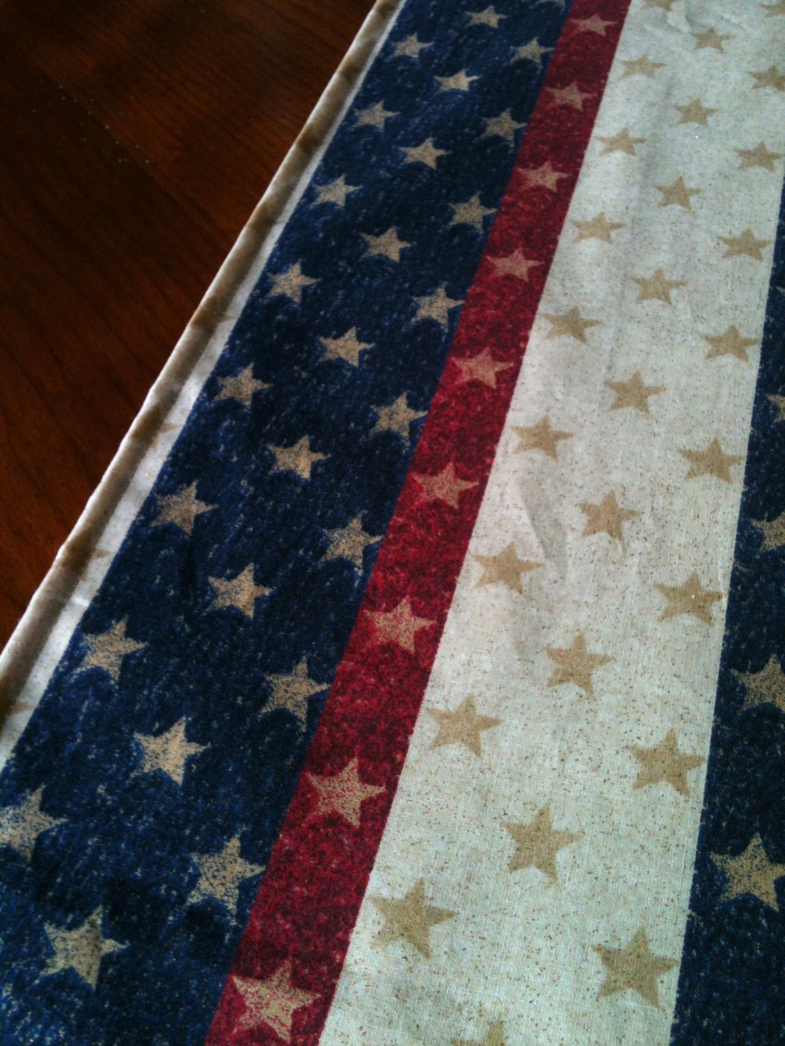 "Patriotic 4th of July Memorial Day Table Runner 36"" - SewMuchtoSell"