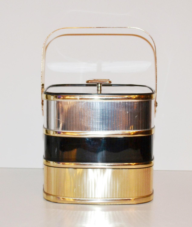 vintage mid century barware ice bucket by culver by