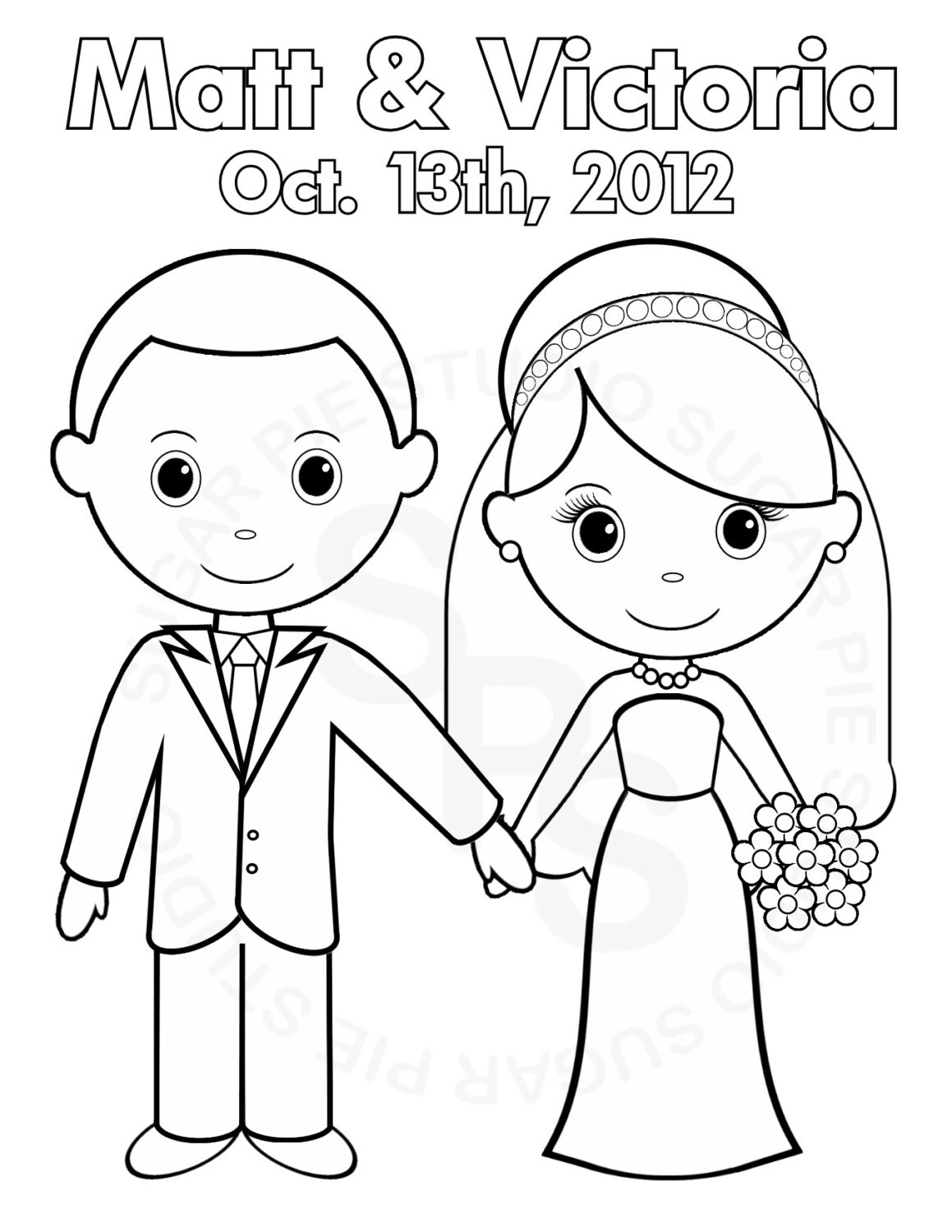 bride and groom cartoon coloring pages coloring pages Wedding Coloring Pages  Bride And Groom Coloring Pictures