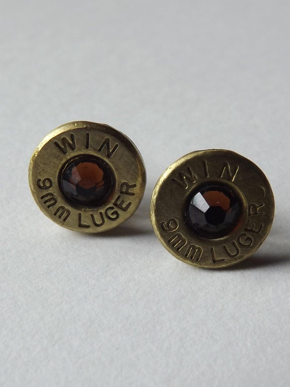 items similar to bullet earring stud earrings spent